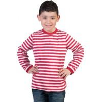 za klovna ali Piko N. - črtasta majica rdeča-bela
