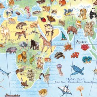 Djeco slagalica životinje svijeta, 100 komada