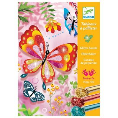 Okrasi metulje z bleščicami