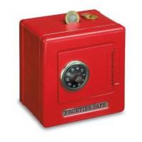 Goki kovinski sef s ključavnico rdeč