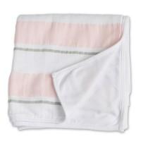Lulujo otroška odeja roza črte 96x96 cm