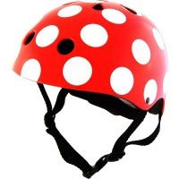 M Kiddimoto čelada Red Dotty
