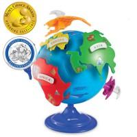 LR sestavljanka globus
