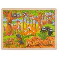 Goki sestavljanka gozdne živali 24 kosov