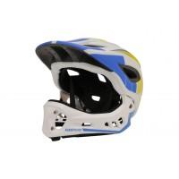 Kiddimoto S 48-52 Ikon 2v1 bela/modra otroška čelada