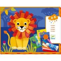 Djeco ustvarjalni set - kolaž lev