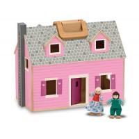 Drvena prijenosna kućica za lutke
