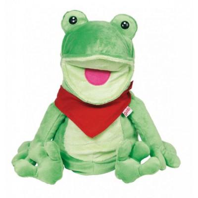Plišasta ročna lutka Žabec